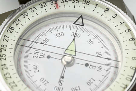 Close up of a compass. Guidance concept