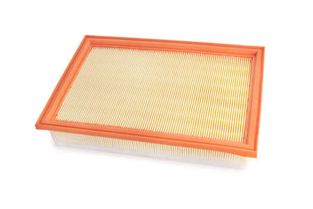 Flat Engine air filter isolated on white background