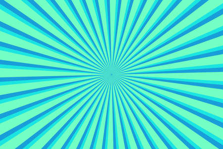 Vibrant Cyan Sunburst Pattern Background. Ray star burst backdrop. Rays Radial geometric Vector Illustration 向量圖像