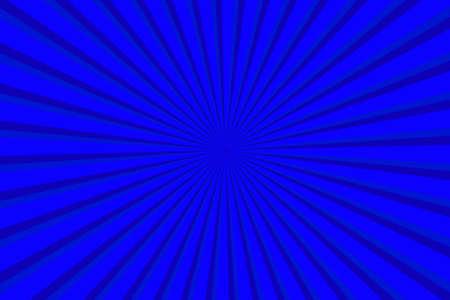 Vibrant Blue Sunburst Pattern Background. Ray star burst backdrop. Rays Radial geometric Vector Illustration 向量圖像