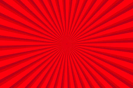 Vibrant Red Sunburst Pattern Background. Ray star burst backdrop. Rays Radial geometric Vector Illustration 向量圖像
