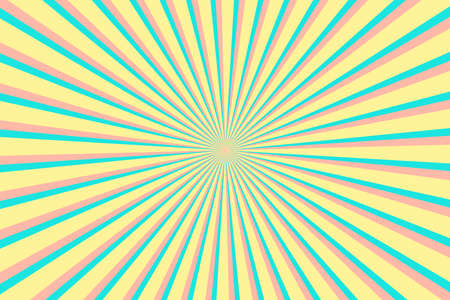 Multicolor Sunburst Pattern Background. Ray star burst backdrop. Rays Radial geometric Vector Illustration 向量圖像