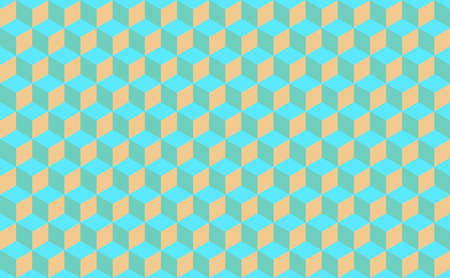 Abstract Isometric cube Shape Background. Seamless pattern vector illustration