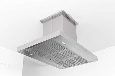 Modern Cooker hood of a minimalist kitchen. Low angle view 版權商用圖片