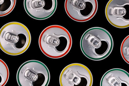 top view of aluminum cans photo