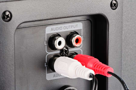 Audio connector, two open and two employees photo