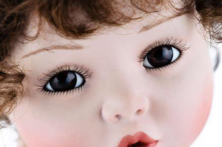primer plano cara: La hermosa cara de cerca Foto de archivo