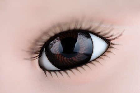 brown eye: One brown eye close up Stock Photo