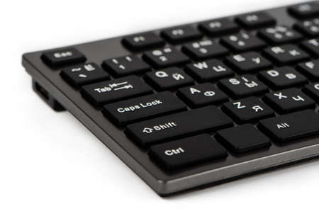 esc: Element of black keyboard with white letters
