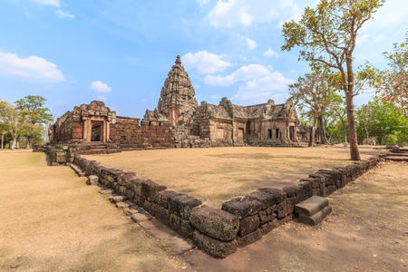 castle rock: Phanom Rung Historical Park is Castle Rock old Architecture about a thousand years ago at Buriram, Thailand