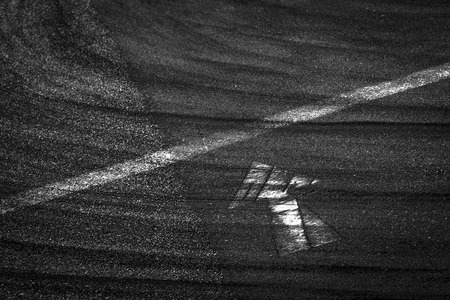 Track competition, detail of a section of a road in competition Stock Photo