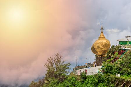 Golden Rock, Kyaiktiyo Pagoda, Kyaikhtiyo Pagoda, Buddhist pilgrimage site in Mon State, Myanmar
