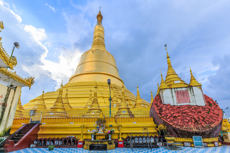 Shwemawdaw Pagoda the hightest pagoda in Myanmar, Bago, Myanmar.