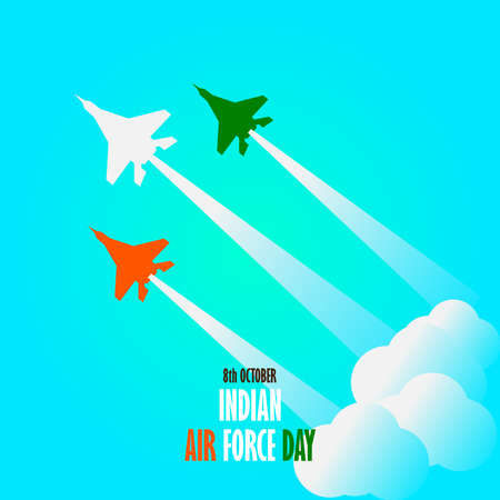 8th October Indian Air Force Day illustration in vector file