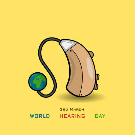 3 march world hearing day illustration Vettoriali