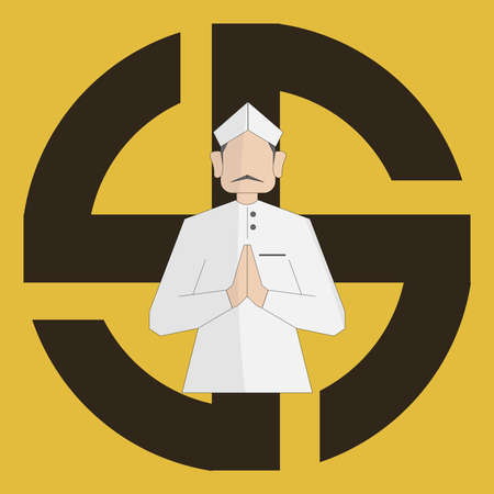 Indian General Election 2019 illustration vector image