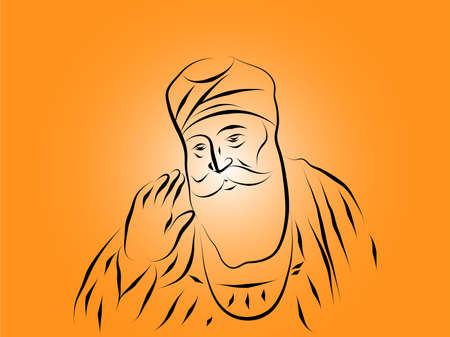 Guru Nanak Dev ji illustration vector image