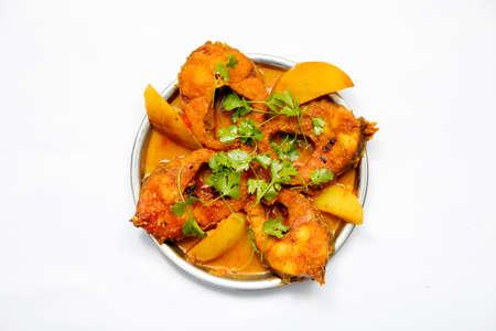 decoration of bengali fish curry Reklamní fotografie
