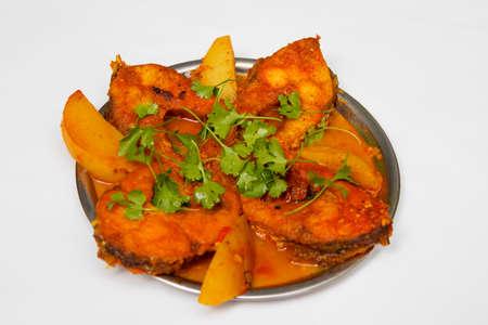 decoration of bengali fish curry