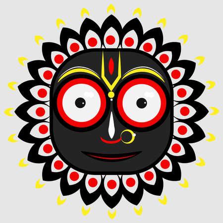 illustration of hindu god Jagannath Illustration