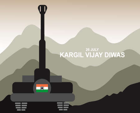26 july kargil vijay diwas,kargil victory day illustration vector image