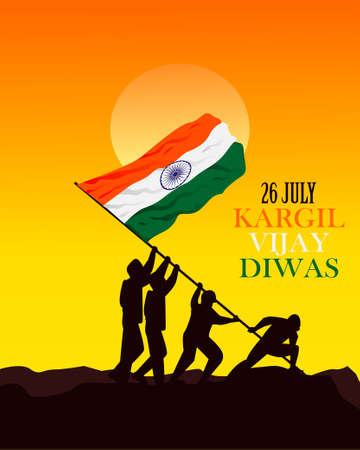 26 July kargil vijay diwas illustration