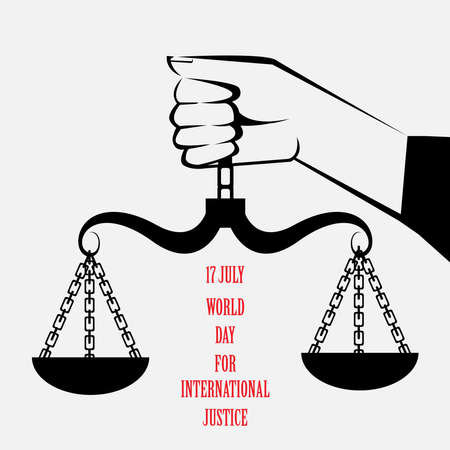 17 july world day for international justice Ilustração