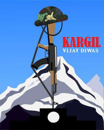 26 July Kargil Vijay Diwas vector illustration
