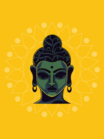 Gautama Buddha creative illustration in vector file