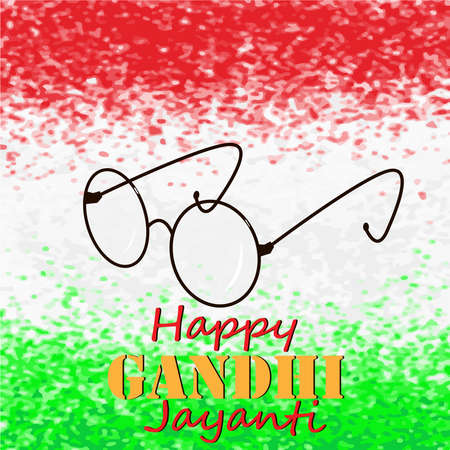 Mahatma Gandhi Eye Glasses illustration in vector image.