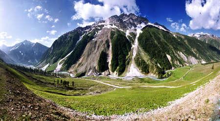 Panorama Mountain w Ladak, w pobliżu Zozila przejść, Sector DRASS, Dżammu i Kaszmir Indie