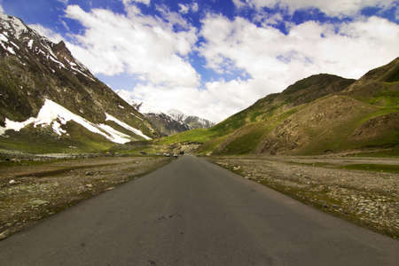 National Highway 1 between Leh and Kargil, straight road between leh and kargil Stock Photo - 10322642