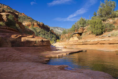 land slide: Slide Rock National Park in Sedona