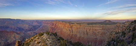 Panoramic View of Grand Canyon at sunset in Arizona , USA photo
