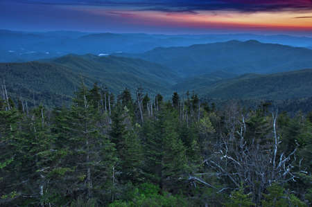 Panoramic View of Smoky Mountain National Park in Summers, Tennessee, USA photo