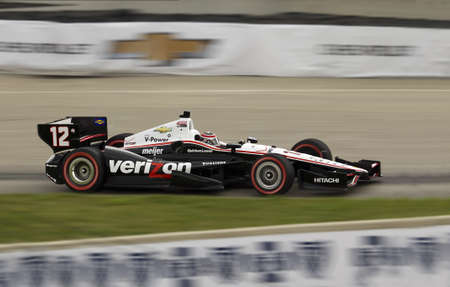 indy: DETROIT - JUNE 2  The Verizon Indy car speeds by at the 2013 Detroit Grand Prix on June 2, 2013 in Detroit, Michigan, USA  Editorial