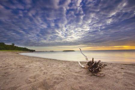 lake shore: Colorful Sunset at Erie Lake, Michigan, USA