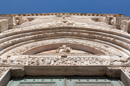 restauration: The cathedral of Messina: details Stock Photo