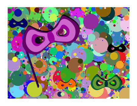 lent: Carnival Illustration