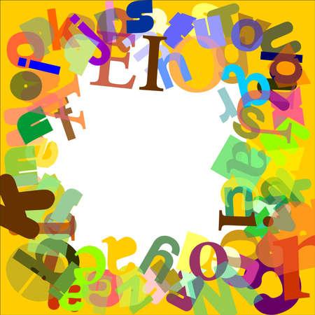 Frame letters Illustration