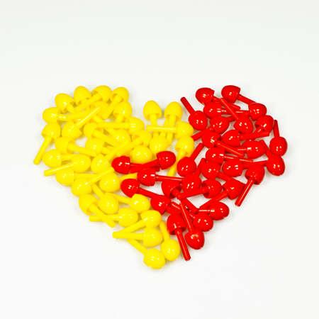 Geel-rood hart