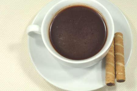 Een kop chocolademelk