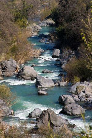 Alcantara een verkorting van de rivier Stockfoto