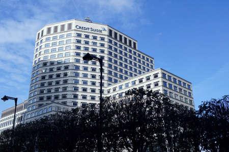 Wolkenkrabbers en gebouwen van Canary Wharf in Londen