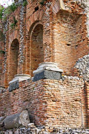 Griekse theater van Taormina detail