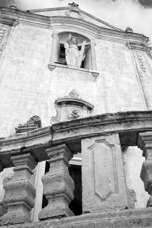 Kerk van Saint Agostino in Taormina detail Stockfoto