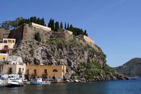 panarea: Fortification of Lipari in the Aeolian islands