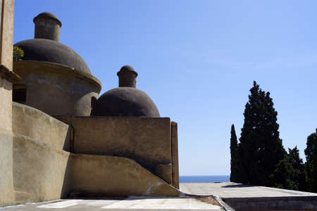 Kerk van de Heilige Maria van de Gratiën in Lipari Stockfoto