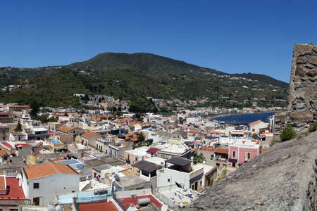 alicudi: View of Lipari from the fortification