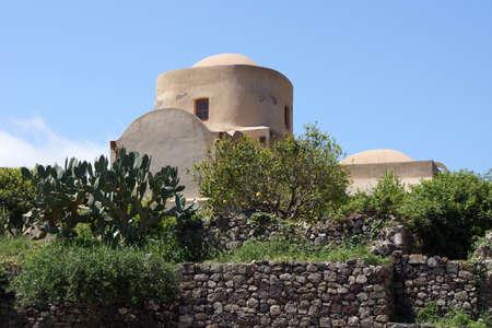 Church of the Crowned in Lipari Stock Photo